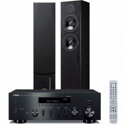 Zestaw stereofoniczny Yamaha R-N602 + kolumny Yamaha NS-F51 z MusicCast, Bluetooth, system 2.0