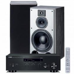 Zestaw stereofoniczny Yamaha R-N303D + kolumny podstawkowe Indiana Line DJ 310, z MusicCast, Bluetooth, DAB+, system 2.0