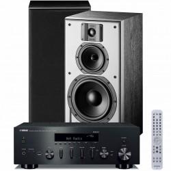 Zestaw stereofoniczny Yamaha R-N602 + kolumny podstawkowe Indiana Line DJ 308, z MusicCast, Bluetooth, system 2.0