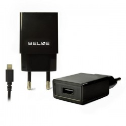 Ładowarka sieciowa Beline iPhone 5/6/7/8/X, 1xUSB + lightning 1A czarna