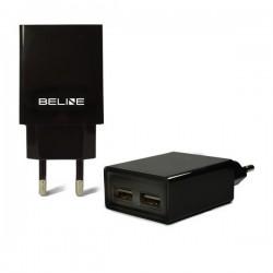 Ładowarka sieciowa Beline 2xUSB 2A czarna