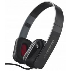 Słuchawki audio stereo z regulacją głośności Esperanza EH143K ARUBA czarne