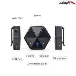 Adapter bluetooth odbiornik z klipsem Audiocore AC815 - HSP, HFP, A2DP, AVRCP