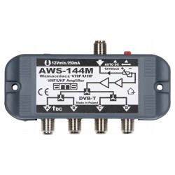Wzmacniacz antenowy wewnętrzny z zasilaczem AWS-144M na 4 telewizory