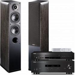 Zestaw stereofoniczny Yamaha, wzmacniacz A-S201 + odtwarzacz CD-S300 + kolumny Indiana Line Nota 550, system 2.0