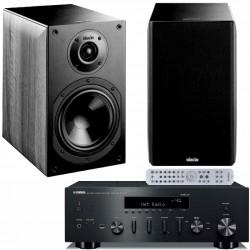 Zestaw audiofilski Yamaha, amplituner R-N602 + kolumny Indiana Line Nota 260,  z MusicCast, system 2.0
