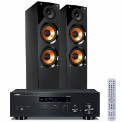 Zestaw stereofonicznyYamaha R-N303D z Bluetooth, MusicCast, tunerem DAB + kolumny Pure Acoustics Nova 6