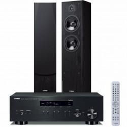 Zestaw stereofoniczny Yamaha R-N303D + kolumny Yamaha NS-F51 z MusicCast, Bluetooth, DAB+, system 2.0