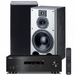 Zestaw stereofoniczny Yamaha R-S202D + kolumny podstawkowe Indiana Line DJ 310, system 2.0