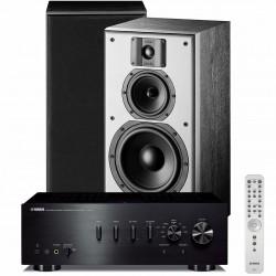 Zestaw stereofoniczny Yamaha A-S701 + kolumny podstawkowe Indiana Line DJ 308, system 2.0