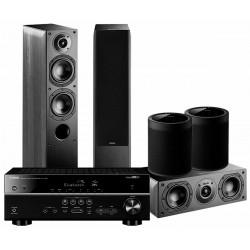 Zestaw kina domowego Yamaha RX-V485 + 2x Indiana Line Nota 550 + Nota 740 + 2x MusicCast 20, kino z MusicCast