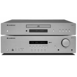 Zestaw stereo Cambridge Audio,  odtwarzacz CD AXC25 oraz amplituner AXR100 z Bluetooth + GRATIS słuchawki Ultrasone PRO 480i