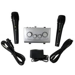 Mikser karaoke AZUSA + 2 mikrofony (MIK0115)