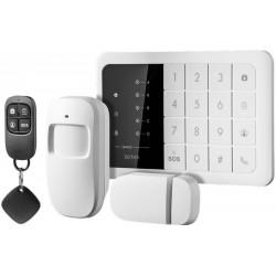 Bezprzewodowy zestaw alarmowy GSM DENVER HSA-120 + 3x czujniki ruchu ASA-40 + 2x dodatkowy pilot ASA-70