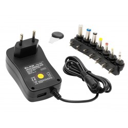 Zasilacz 3÷12V/1.2A ZI2000 + USB...