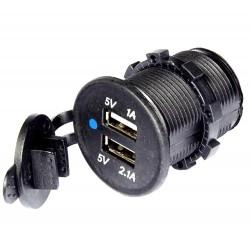 Ładowarka samochodowa (12-24V) 2x USB...
