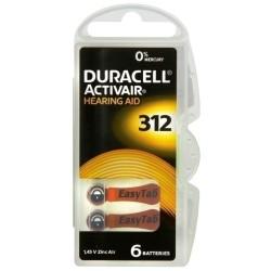 Duracell DA312 B6 1,4V Zinc-Air...