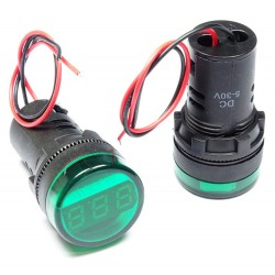 Woltomierz LED 28mm 5-30VDC...