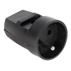 G-10-2 Gniazdo z uziemieniem czarne