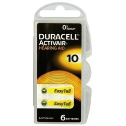 Duracell DA10 B6 Bateria słuchowa...