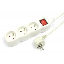 Przedłużacz sieciowy 230V 3GN+P 3.0m 10A