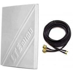 Antena LTE 4G dual 14dBi + 2x kabel...