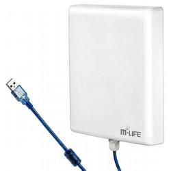 M-Life ML0649 Aktywna antena WiFi USB...