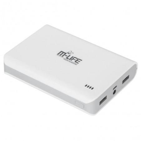 Uniwersalny zasilacz z baterią awaryjną Power Bank M-LIFE model ML0631 pojemność 10000mAh