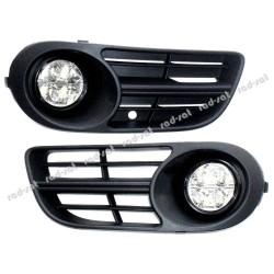 Profesjonalne światła do jazdy dziennej firmy NSSC model DRL-510HP z maskownicami do Skoda FABIA