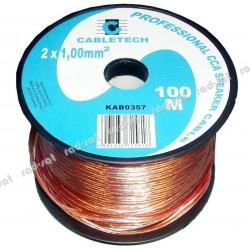 CABLETECH CCA 2x1mm kabel,...