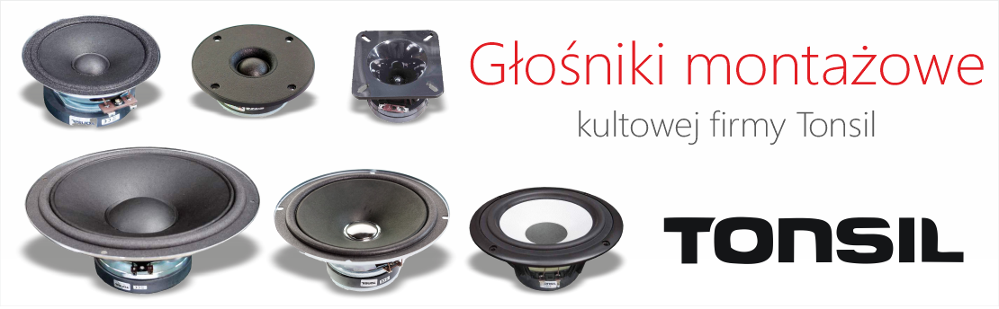 Głośniki montażowe kultowej firmy Tonsil